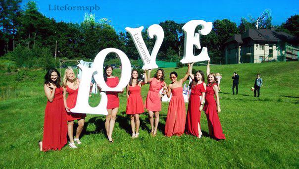 буквы из пенопласта для свадьбы, аренда букв