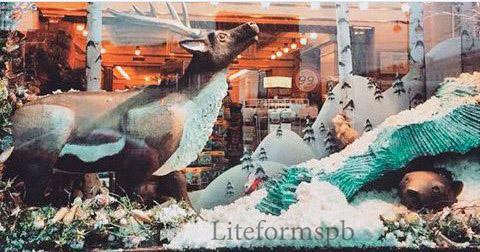 животные из пенопласта для кафе на невском проспекте