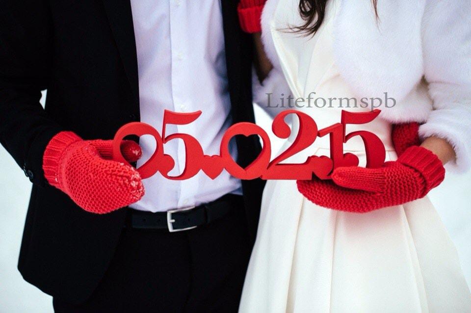изготовление даты свадьбы из пенопласта спб