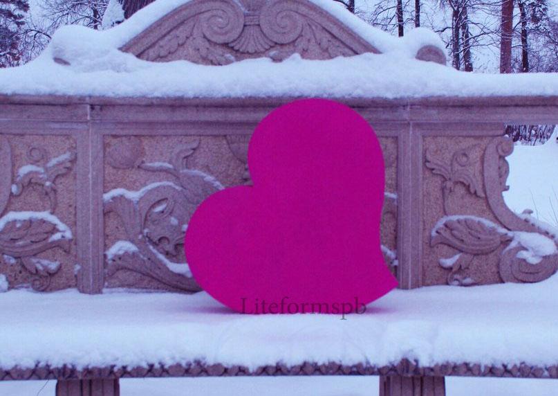 сердце из пенопласта от liteformspb галерея работ