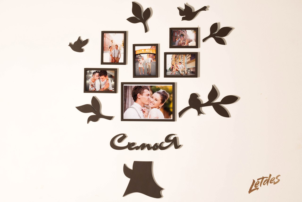 Декоративные рамки для фотографий на стену