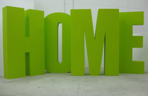 объемные буквы из пенопласта home