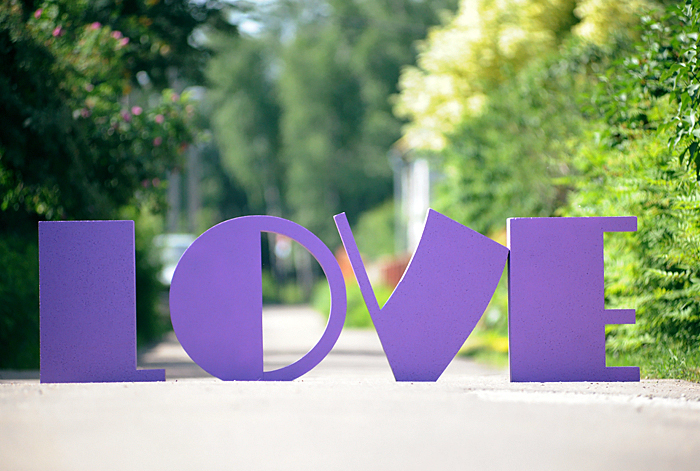 буквы Любовь на свадьбу