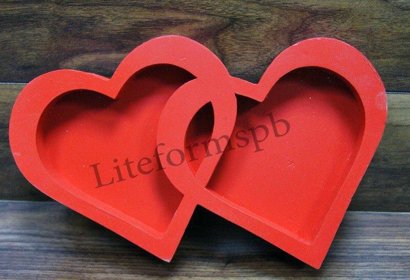 сердце из пенопласта или дерева
