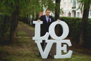 Буквы на свадьбу в СПБ