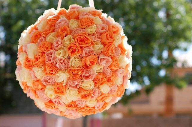 цветочный шар для флористического декора из пенопласта