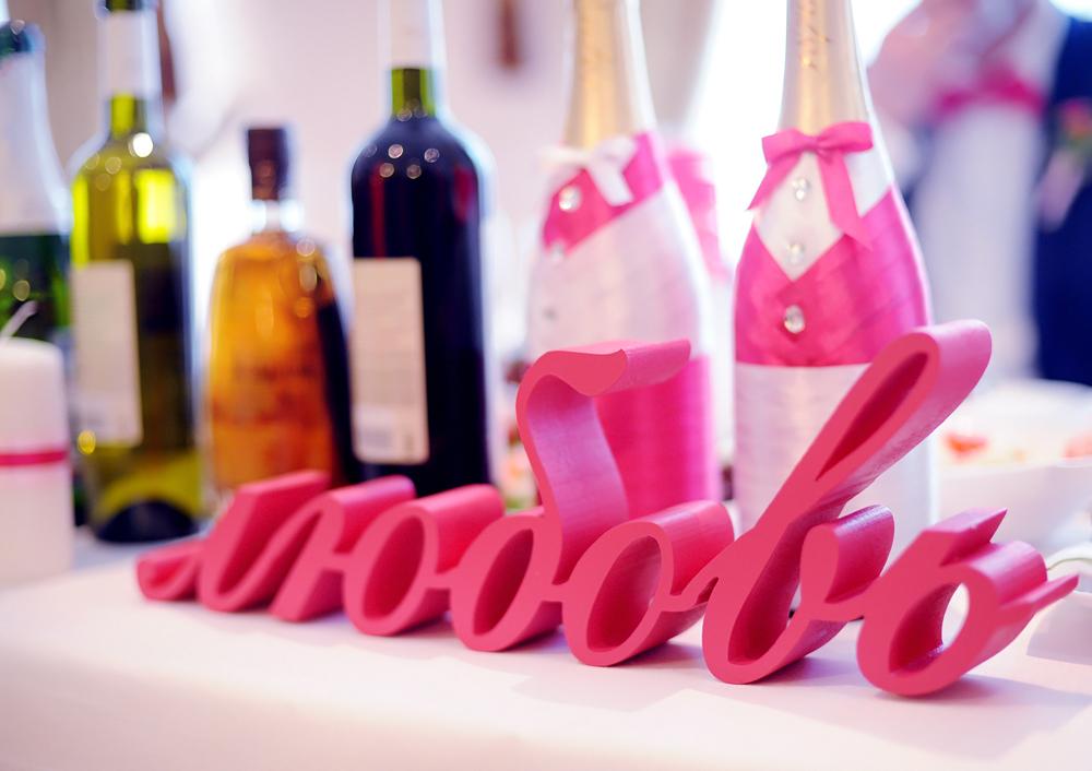 свадебный декор буквы из пенопласта