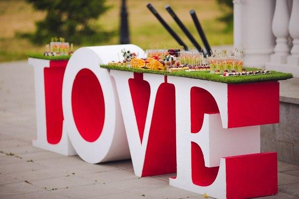 объемные буквы для свадьбы