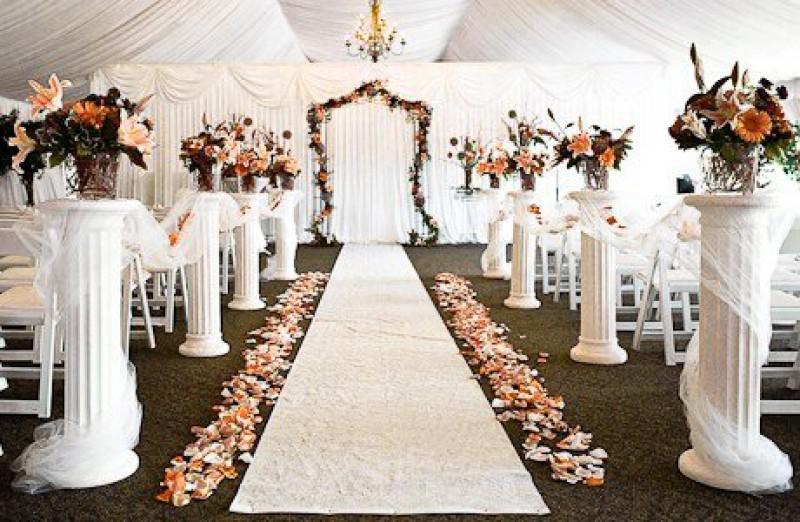 Свадебный декор торжественного зала